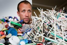 Sam Judd says smaller items of rubbish are the most difficult to collect and the most likely to harm wildlife. Photo / Paul Estcourt 