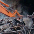 Gravel and shotcrete is removed from the seal at the Pike River mine. Photo / Supplied
