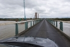 The one-lane Kopu Bridge near Thames has been closed off due to a structural issue. Photo / Paul Estcourt