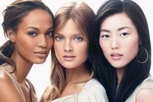 Models Joan Smalls, Constance Jablonski and Liu Wen are in an Estee Lauder campaign. Photo / Supplied
