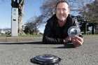 Don Sandbrook's solar-powered sensors are monitoring Palmerston North parking spots, and keeping drivers honest. Photo / Mark Mitchell