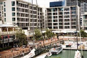 Restaurants in Auckland's Viaduct Basin. Photo / Babiche Martens