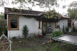 The Te Puke blaze cost a young mother all of her possessions and caused $230,000 of damage. Photo / Supplied