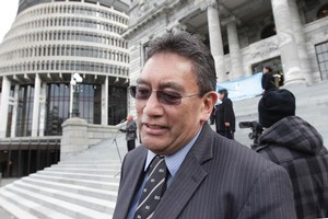 Hone Harawira was thrown out of Parliament after extemporising on the oath of allegiance. Photo / Mark Mitchell