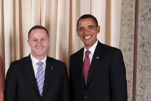 President Barack Obama and John Key in 2009. Photo / File