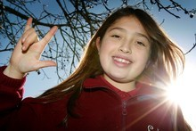 Javiera Machiman, 10, is quickly morphing into a Kiwi kid. Photo / Sarah Ivey