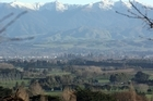 Snow capped Tararua ranges viewed from the Weraiti hill east of Masterton. Photo / file