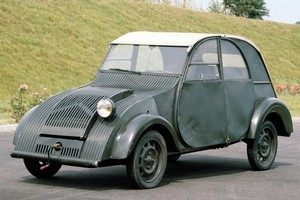 Citroen's REVOLTe concept city car was inspired by the 2CV's distinctive silhouette (pictured). Photo / Supplied