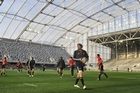 The roof at the Forsyth Barr Stadium didn't go over-budget. 