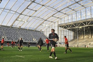The roof at the Forsyth Barr Stadium didn't go over-budget.  Photo / Otago Daily Times
