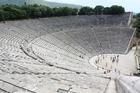 The ancient theatre at the Sanctuary of Epidaurus. Photo / Jim Eagles