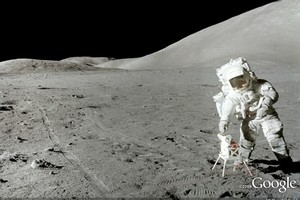 Google has a site where you can walk on the moon. Photo / Supplied