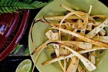 Roasted parsnips with lime, cumin seeds and brown sugar. Photo / Babiche Martens