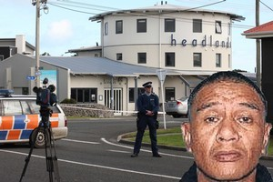 Anthony Ratahi (inset) and the scene of the hostage ordeal. Photo / Rob Tucker
