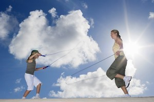 Rope your kids into skipping for a fun cardiovascular workout. Photo / Thinkstock