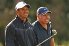 Tiger Woods and caddie Steve Williams. Photo / Getty Images