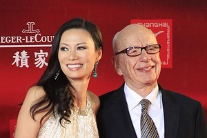 Rupert Murdoch with Wendi Deng at the Shanhai Film Festival earlier this year. Photo / AP
