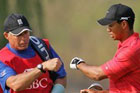 Steve Williams and Tiger Woods. Photo / Getty Images