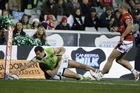 Blake Ferguson of the Raiders scores a try. Photo / Getty Images