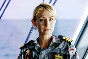 Lisa McCune's daring side came out on Sea Patrol, but at home she says she leaves the stunts to the kids. Photo / Supplied