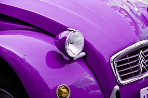 A purple car suggest you are creative and individualistic. Photo / Thinkstock