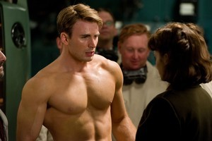 Captain America's beefcake is the least impressive part of the film. Photo / Supplied