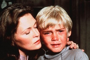 Teary eyed: 9-year-old boy (Ricky Schroder) weeps as his boxer father dies in front of him in 1979 remake of 'The Champ'. Photo / Supplied