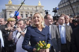 Coutela was a candidate for the controversial far-right party led by Marine Le Pen (pictured). Photo / AFP