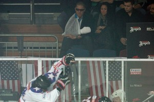 Shane Cameron had a ringside seat. Photo / Michael Craig