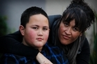 Wiremu Jones, pictured with his mother Nadia, ended up near Whangarei on what was supposed to be a journey to Hamilton. Photo / Christine Cornege