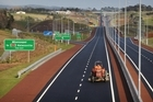 The new motorway sections on SH16 and SH18 have been completed six months ahead of schedule.  Photo / Greg Bowker