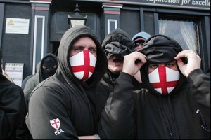 British right- wingers invoke the name and imagery of the the Crusaders. Photo / Supplied
