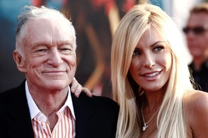 Crystal Harris admitted 'I'm not turned on by Hef, sorry' during a radio interview with Howard Stern. Photo / AP