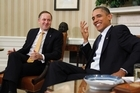 President Barack Obama with Prime Minister John Key. Photo / AP