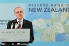 Reserve Bank Governor Alan Bollard announcing last month's decision to keep the OCR at 2.5pc. Photo / Mark Mitchell