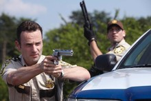 The hero of The Walking Dead, played by Andrew Lincoln, is the strong and silent type. Photo / Supplied