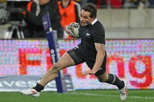 Zac Guildford for the All Blacks. Photo / Getty Images