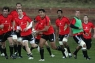 The All Blacks training at Rugby League Park. Photo / Getty Images