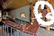 War canoe, Te Whare Waka o Te Winika at Waikato museum. Photo / Supplied