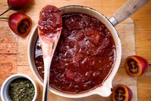 Tamarillo chutney. Photo / Babiche Martens
