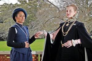 Angela Wells as Wille de Wilde (left) and Michaela de Bruce as Willemyne van Nymegen. Photo / Sarah Ivey