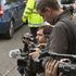 Media gather outside Golders Green Crematorium for the funeral ceremony. Photo / AP