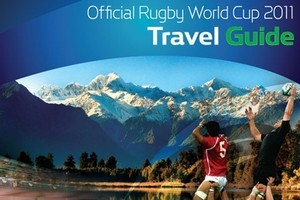 Book cover of The Official Rugby World Cup 2011 Travel Guide. Photo / Supplied