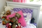 Greig Morgan made a headboard for his daughter's spruced-up bedroom. Photo / Janna Dixon