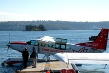 Sydney Seaplanes offers flights to a number of local restaurants that can only be reached by air or sea. Photo / AAP