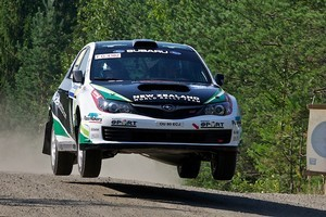 Hayden Paddon in action during the Rally of Finland. Photo / Hayden Paddon Rallysport