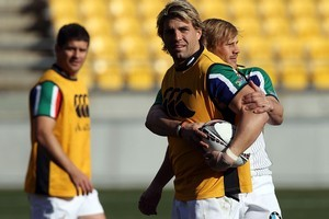 The Springboks training at Westpac Stadium. Photo / Getty Images