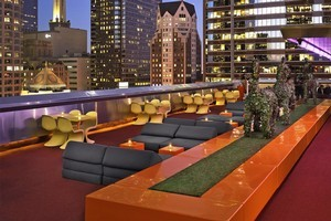 The Standard's bar is a must on the roof bar rounds, with it's 60s-style décor and amazing views. Photo / Supplied