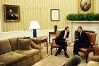John Key meeting with Barack Obama in the White House last month. Photo / AFP