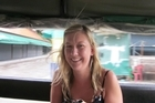 New Zealand tourist Sarah Carter travelling in a bus in Thailand January 2011. Photo / supplied